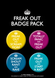 Freak Out Badge Pack Badge