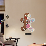 Gingerbread Man Wall Decal by Jason Freeny