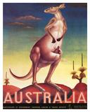 Australia, Airline & Travel Kangaroo c.1957 Wydruk giclee autor Eileen Mayo