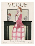 Vogue Cover - August 1923 Gicléedruk van Georges Lepape