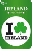 I Love Ireland Vinyl Sticker Klistermærker