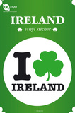 I Love Ireland Vinyl Sticker Stickers