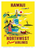 Northwest Orient Airlines, Hawaii c.1960s Posters