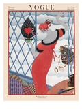 Vogue Cover - December 1921 Premium Giclee Print by Helen Dryden
