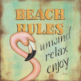 Beach Rules Posters by Kim Lewis