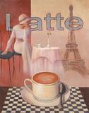 Latte-Tour Eiffel Poster by T. C. Chiu