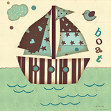 Boat East Poster by Jo Moulton