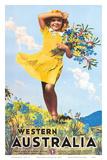 Western Australia, Flower Girl c.1936 Prints by Percy Trompf