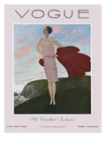 Vogue Cover - July 1927 Gicléedruk van Pierre Brissaud