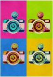 Retro Camera Pop Art Poster Photo