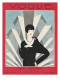Vogue Cover - March 1927 Giclee Print by Harriet Meserole