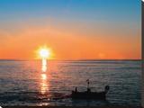 Pôr do sol no Mediterrâneo Impressão em tela esticada por Jacques Boussaroque
