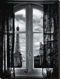 Fenêtre Sur Paris Reproduction transférée sur toile par Mauricio Hellerdani