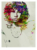 Jim Morrison : portrait &#224; l&#39;aquarelle Affiches par  NaxArt