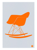 Orange Eames Rocking Chair Art by  NaxArt