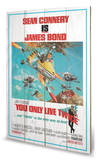 You Only Live Twice one-sheet Wood Sign