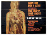 Goldfinger projection Wood Sign