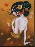 Le Papillon De Cuivre Stretched Canvas Print by  Sybile