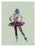 Ballerina Watercolor Prints by  NaxArt