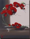 Panache D'Orchidées I Reproduction transférée sur toile par Olivier Tramoni