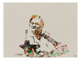 Jonny Cash Watercolor Print by  NaxArt