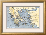 Map of Ancient Greece and its Colonies Framed Giclee Print