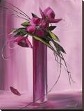 Bouquet Violet I Stampa su tela di Olivier Tramoni