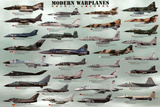 Laminated Modern Warplanes Photo