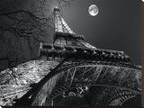 Tour Eiffel, Pleine Lune Kunst op gespannen canvas van Antoine Carrara