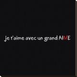 Un Grand M Kunst op gespannen canvas van Audrey & Fabrice Cilpa