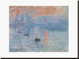 Impression, Soleil Levant Stretched Canvas Print by  monet