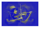 Violinist Prints by  NaxArt