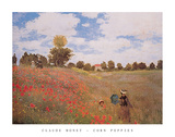 Corn Poppies (Les Coquelicots), 1873 Poster av Claude Monet