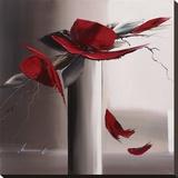 En Rouge Et Gris II Reproduction transférée sur toile par Olivier Tramoni