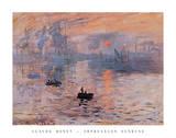 Impresión, sol naciente, c.1872 Lámina por Claude Monet