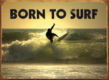 Born to Surf Plaque en m&#233;tal