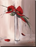 Les Fleurs Rouges II Leinwand von Olivier Tramoni