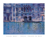 Venice Palazza Da Mula Posters by Claude Monet
