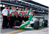 Tony Kanaan with Car and Crew 2003 Indianapolis 500 Indycar Racing Archival Photo Poster Prints
