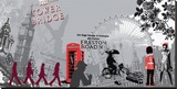 London Attitude Stretched Canvas Print by  Farkas