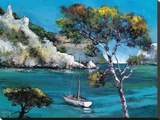 Promenade Dans Les Calanques Stretched Canvas Print by Roger Keiflin