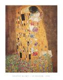 Gustav Klimt - The Kiss (Le Baiser), c.1907 Plakát