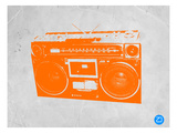 Orange Boom Box Prints by  NaxArt