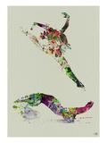 Ballet Watercolor 3 Kunstdruck von  NaxArt