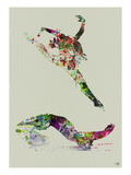 Ballet Watercolor 3 Poster by  NaxArt