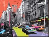 New York Empire State Reproducción en lienzo de la lámina por  Tandem
