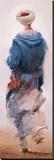 Bédouin Bleu Reproduction transférée sur toile par Yann Letestu