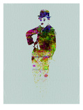 Charlie Chaplin Watercolor Poster von  NaxArt