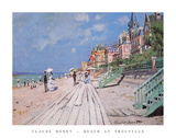 Beach at Trouville, 1870 Print by Claude Monet