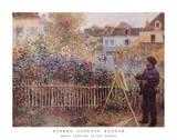 Monet Painting in His Garden at Argenteuil, 1873 Posters van Pierre-Auguste Renoir